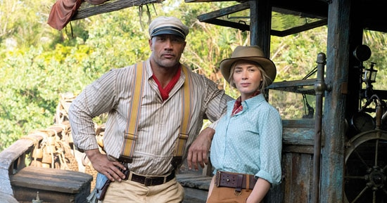 The Rock e Emily Blunt em Jungle Cruise