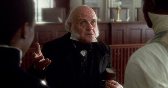 Anthony Hopkins no filme Amistad