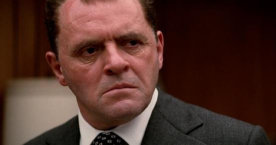 Anthony Hopkins no filme Nixon