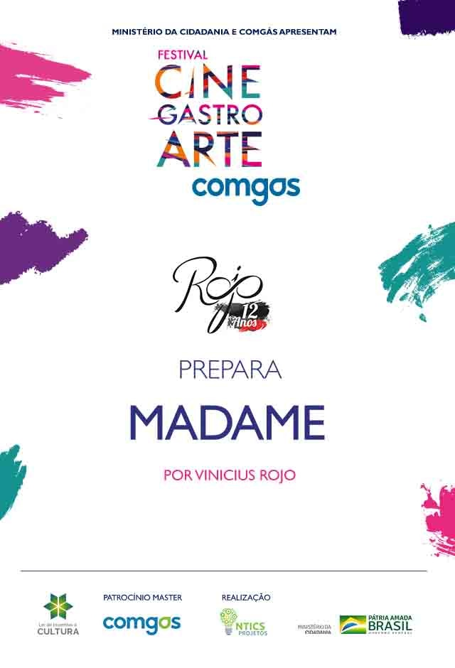 Filme: Rojo Gastronomia Prepara Madame