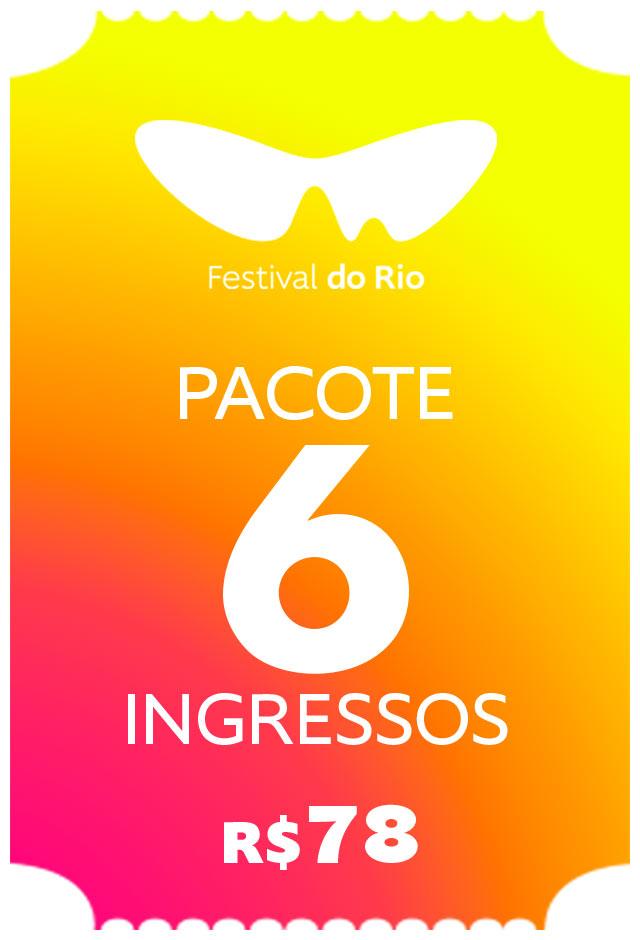 Pacote Festival do Rio - 06 Ingressos