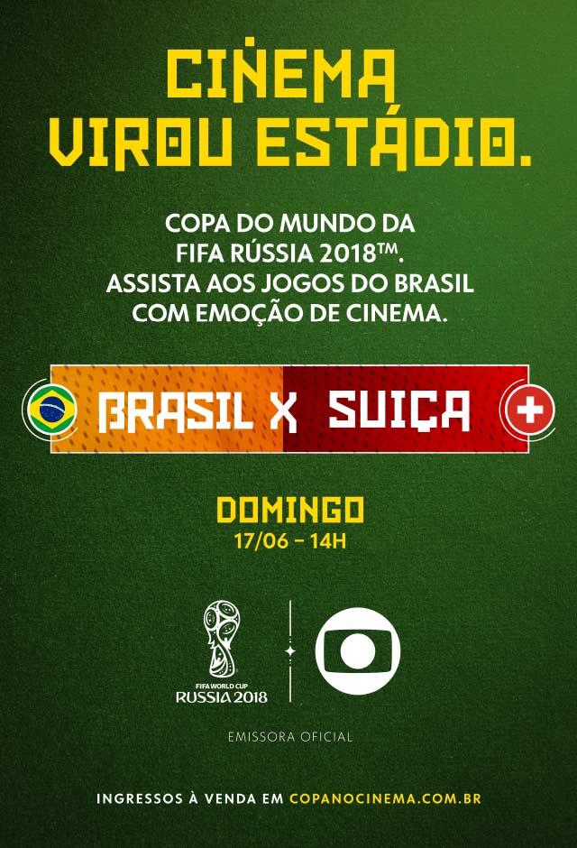 Rússia 2018: Brasil X Suiça