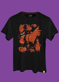 Imagem Camiseta A Vaca e o Frango Bum de Fora