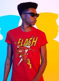 Imagem Camiseta Masculina The Flash Em Ação