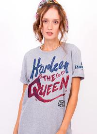 Imagem Camiseta Masculina FanDome 2021 Arlequina Heart Kills The Justice League