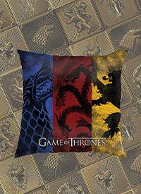 Imagem Almofada Game of Thrones Stark, Targaryen e Lannister