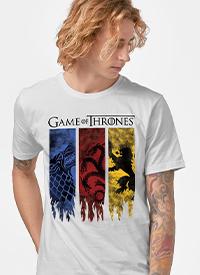 Imagem Camiseta Game of Thrones Stark, Targaryen e Lannister