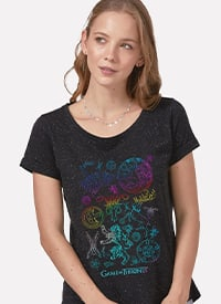 Imagem Camiseta Game of Thrones Brasões Colorful