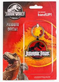 Imagem Chaveiro de Metal Jurassic Park Logo
