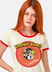 Imagem Camiseta Ringer Looney Tunes Together