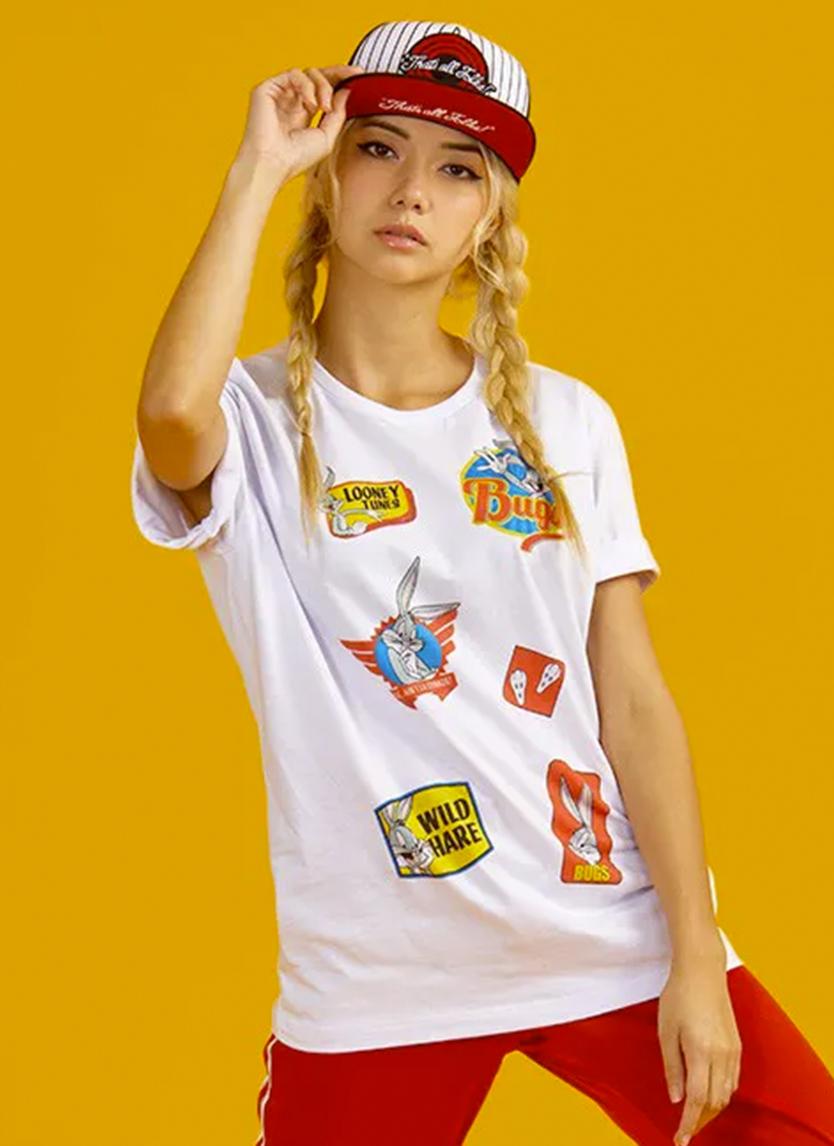Imagem Camiseta Looney Tunes Pernalonga Vintage Patch Bunny