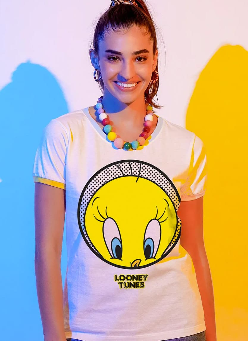 Imagem Camiseta Ringer Looney Tunes Piu-Piu Rostinho