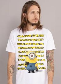 Imagem Camiseta Minions Listras de Bananas
