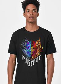 Imagem Camiseta Mortal Kombat Sub-Zero vs Scorpion Fight