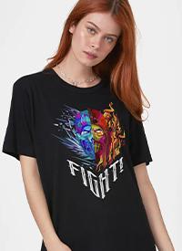 Imagem T-shirt Mortal Kombat Sub-Zero vs Scorpion Fight