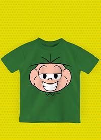 Imagem Camiseta Infantil Turma da Mônica Rostinho Cebolinha