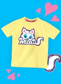Imagem Camiseta Infantil Turma da Mônica Mingau Miau