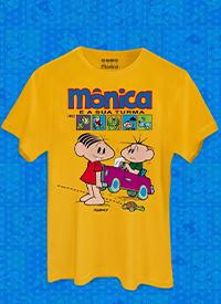 Imagem Camiseta Masculina Mônica e Sua Turma